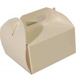25x25x12 cm - opakowanie białe na tort z rączką