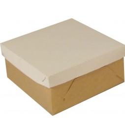22,5x22,5x10,5 cm - opakowanie na tort, pudełko + wieko